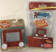 2 Lot Pocket Etch A Sketch Classic Mini 60th Anniversary Handheld