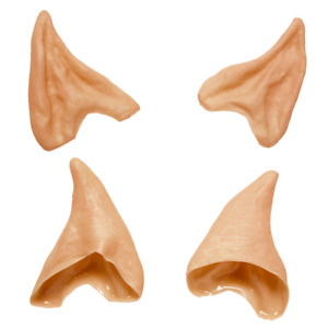 Elf Pixie Ears Latex Pointed Ear Tips Covers Christmas Fancy Dress Accessory