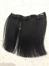"""5.5"""" Clip in Human Hair Extensions Straight Black 1Pc 5.5"""" Wide"""
