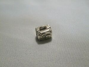 Authentic Pandora Travel Suitcase Charm Retired Charm 925 ALE # 790362