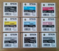 9 Genuine Epson Pro 3880 Printer Ink (2017) T5801 T5802 T580A T580B T5807 T5809