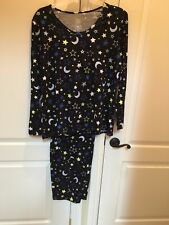 "NEW WOMEN'S  PLUS SIZE ""MOON AND STARS"" PAJAMA SET. SIZE 3X"