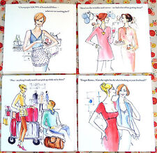 LA/P3 OFFER!  SET OF FOUR GREETINGS CARDS;FRIEND;QUALITY;ORIGINAL WITTY FUN