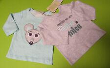 2 Stück ERGEE Baby Jungen LangarmShirt GR.50 BIO Baumwolle NEU mit Etikett