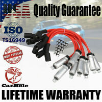 8Pack 8mm Spark Plug Wires Set w/ Heat Shield For GMC Chevy Cadillac V8 748UU