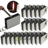 10-100PCS Waterproof Permanent Match Lighter Striker Fire Starter Emergency Tool