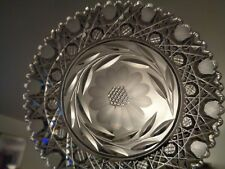 """ABP Amazing CRYSTAL PLATE Pattern """"FLOWER & HARVARD"""" by Paul Richter & Co. 1940"""