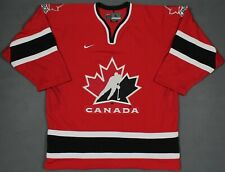 Team Canada Vintage 2002 Olympic Nike Sewn Hockey Jersey Red Size Large