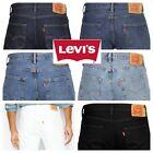 Levis 501 Original Fit Jeans Straight Leg Button Fly 100% Cotton Black Blue
