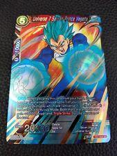DRAGONBALL SUPER CARD GAME UNIVERSE 7 SAIYAN PRINCE VEGETA MINT TB1-004 SR