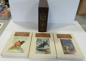 EDGAR RICE BURROUGHS Library of Illustrations 3 Volume Hardcovers w/ Slipcase!