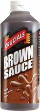 3 X Crucials Brown Sauce Vegetarian Vegan for Breakfast Rich Fruity Sweet 500ml