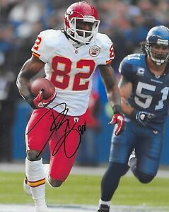 Dwayne Bowe signed autographed Kansas City Chiefs football 8x10 photo COA, proof