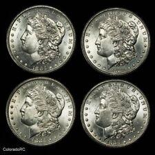 Lot of Four 1883-CC U.S. Carson City Morgan Silver Dollars in BU Condition