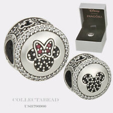 Authentic Pandora Silver Disney Mickey and Minnie Sparkling Icons Bead USB796900