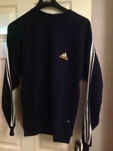 Mens Adidas Retro Sweatshirt Navy Blue