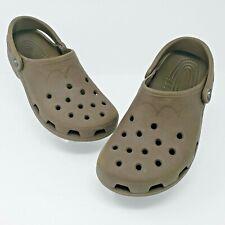 Crocs Brown Sport Clogs Casual Classic Sandals Mens Size 8-9 Womens 10-11