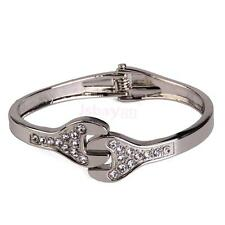 Mens Punk Spanner Mechanic Tool Wrench Crystal Bangle Bracelet Jewelry Gift