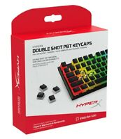 HyperX Double Shot PBT Keycaps - 104 Mechanical Keycap Set Black & White Pudding