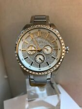 Fossil Ladies Multifunction Glitz Dial Stainless Steel Bracelet Watch BQ3062
