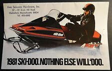 Vintage 1981 Ski-Doo Full Line Snowmobile Sales Brochure 16 Pages (253)
