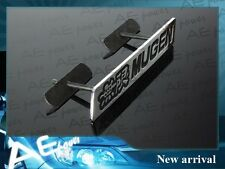 3D MUGEN metal front grill grille emblem badge MUGEN Chrome Black EMBLEM badge