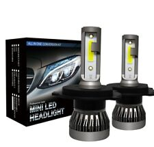 2 Ampoules H4 LED Phare Voiture 72W 9000LM Feux Remplacer HID Xénon Lampe 6000K