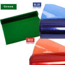 Gels Red+Blue+Green Color Filter Film Soft Paper Fr Studio Light Spotlight 40*50