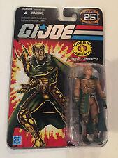 """G.I. Joe Cobra Emperor Serpentor 4"""" Action Figure 2007 NRFB 25th Anniversary"""