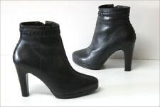 MINELLI  Bottines Boots Cuir  Noir Doublées Cuir Talons Hauts T 36 TTBE
