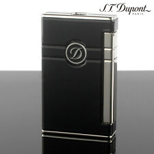 S.T. Dupont Ligne 2 Torch Lighter Black Lacquer & Palladium Finish (023004)
