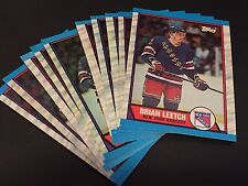 BRIAN LEETCH 1989 Topps  LOT of ( 10 ) ROOKIE Cards #136 New York Rangers RC