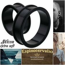 Dilataciones silicona extra suave tallas super BIG ear tunnel silicon 26-42 mm