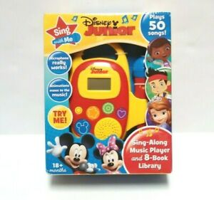Disney Junior Sing With Me Sing-Along Music Player With Microphone And 8 Books