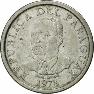 [#431376] Coin, Paraguay, 10 Guaranies, 1978, EF(40-45), Stainless Steel, KM:167
