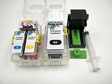 DIY REFILL Kit for Genuine Canon PG-140 CL-141 PG-640 CL-641 OEM Ink Cartridges