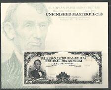 EUROPEAN PAPER MONEY BOURSE, UNFINISHED MASTERPIECE MINT SOUVENIR CARD B-183