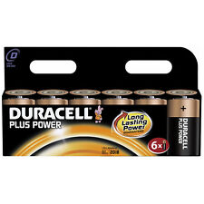 Value 6 Pack Duracell PLUS POWER D Cell LR20 MN1300 MX1300 Alkaline Batteries
