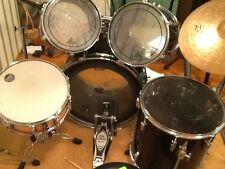 Tama rockstar drum set with cymbals and hardware