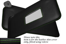 GREEN STITCHING FITS FIAT PUNTO MK1 93-99 2X SUN VISORS LEATHER COVERS ONLY