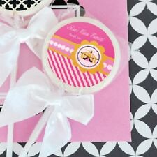 48 Pink Circus Lollipops Personalized Lollipop Birthday Party Favors