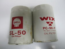 50-73 AMC Checker Jeep Packard Studebaker Oil Filters Pair NORS PC50P SL50