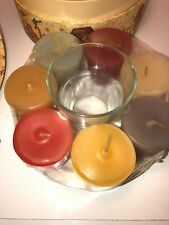 Candle 7 Assortment Votive Candles & Holder In Decorative Debi Hron Box Gift Set