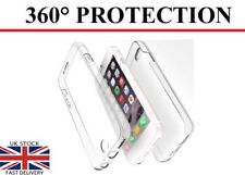For Apple iPhone 6 6S 360° Front(No Dots) & Back Slim TPU Clear Gel Cover Case
