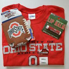 Ohio State Buckeyes Lot Official Small T-Shirt Gildan Can Koolie Koozie Lip Balm