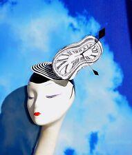Surrealist Art Salvador Dali Softwatch Melting Clock Fascinator Hat Ascot Derby