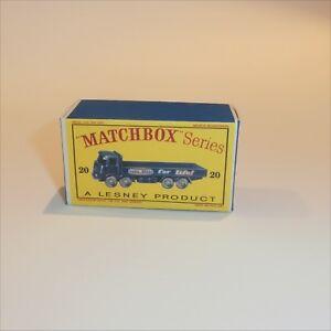 Matchbox Lesney 20 b ERF 68G Truck Everready Empty Repro D Style Box