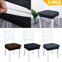 2/4PC Stretch Fit Short Dining Room Chair Cover Slip Covers Protector Seat Cover