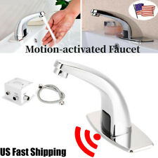 Bathroom Sink Faucet Auto Electronic Sensor Touchless Public Mall Free Hands Tap