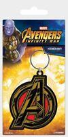 Avengers Infinity War porte-clés caoutchouc Avengers Symbol 5 cm keychain 387970